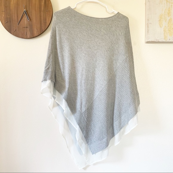 The Limited Sweaters - The Limited Grey Poncho